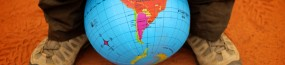 Carte de l'Argentine sur le globe