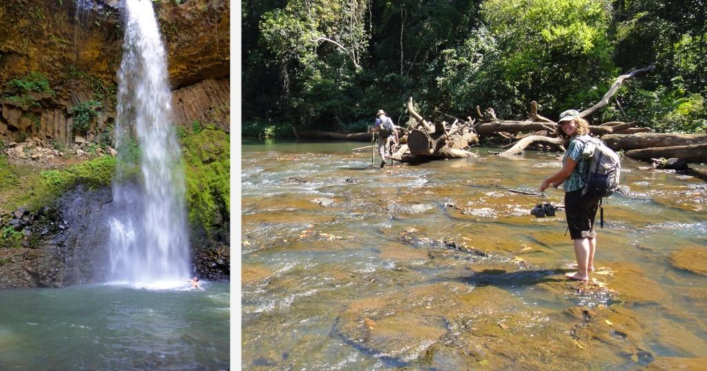 Cascade et rivière rafraîchissantes