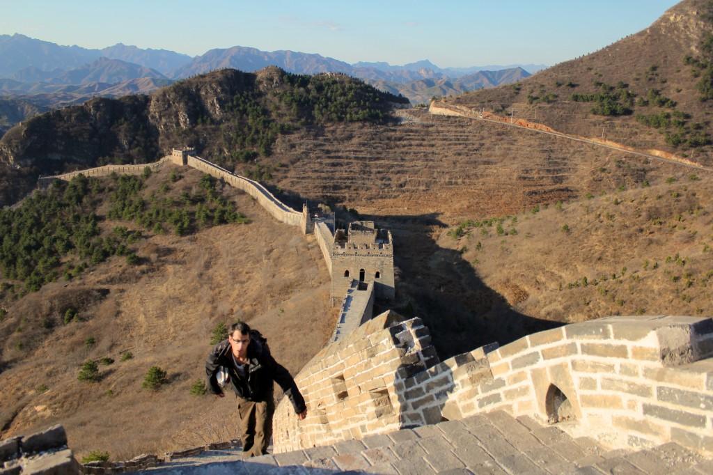 Dénivelé très important de la muraille du côté de Simatai