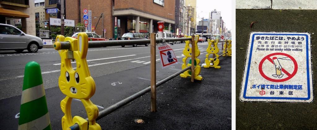 Sur la chaussée des routes japonaises
