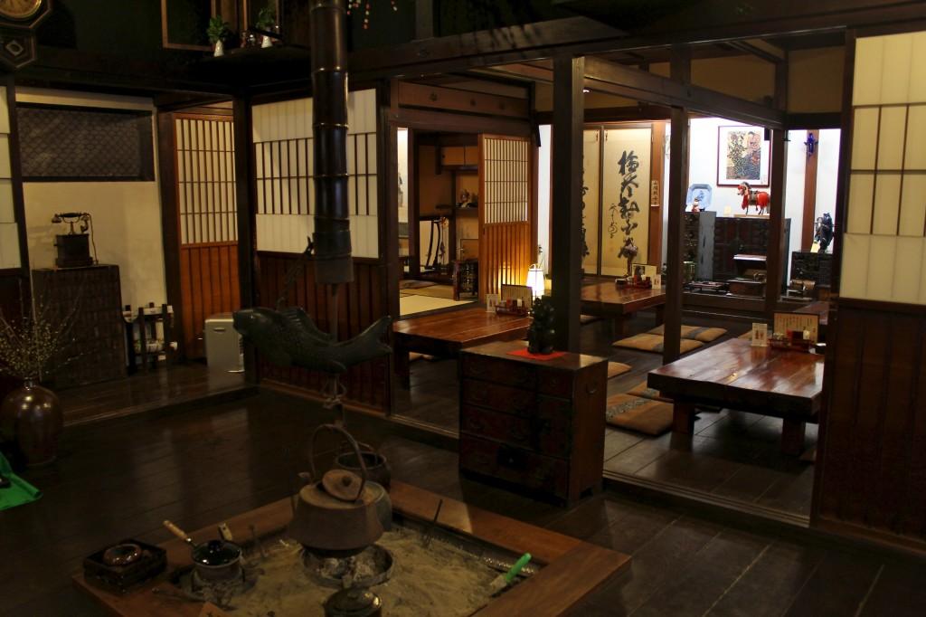 Restaurant dans une maison traditionnelle japonaise de Takayama