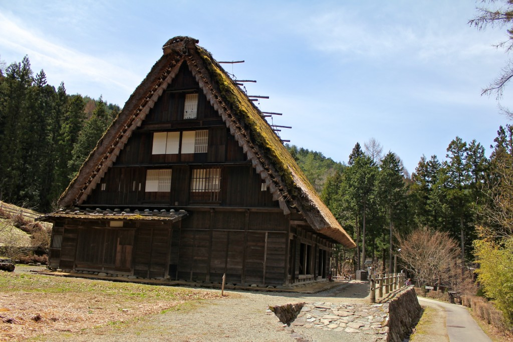 Maison de style gassho-zukuri au village folklorique (Hida-no-sato) de Takayama
