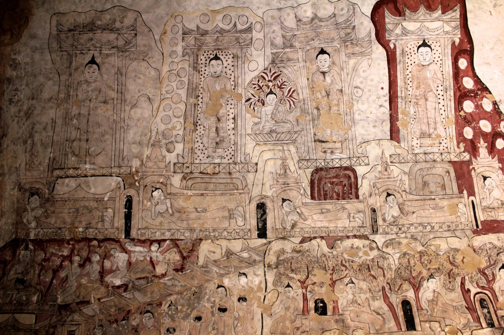 Extrait d'une des fresques du temple de Sulamani