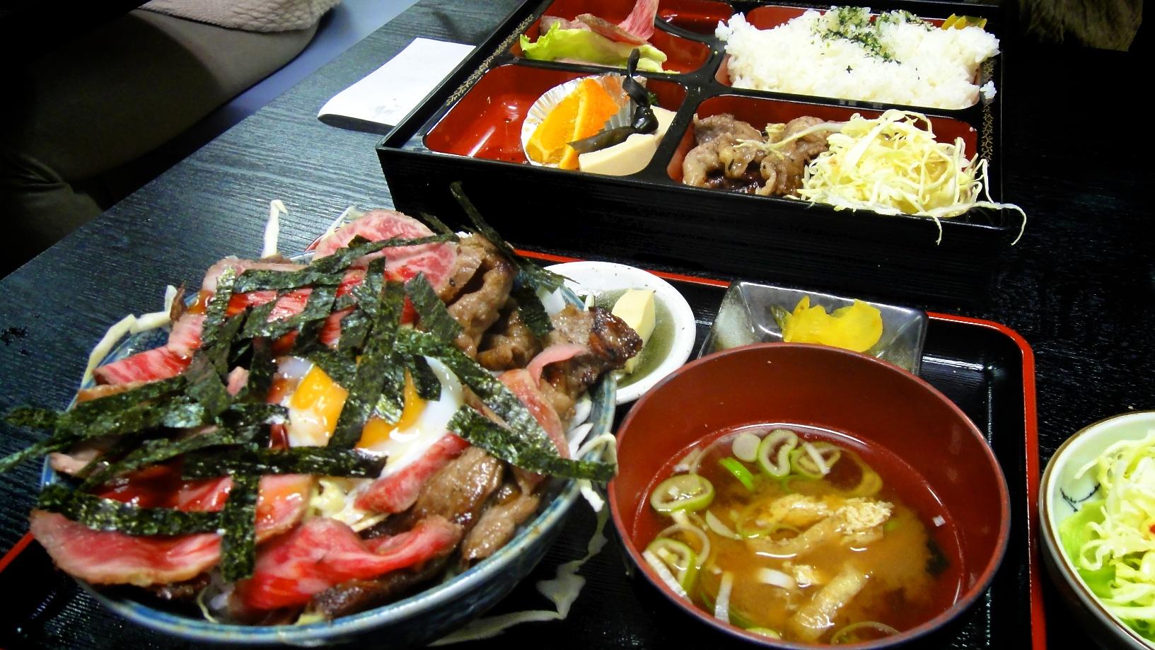 Menu dans un restaurant takayama avec boeuf de hida riz - Cuisine japonaise sante ...