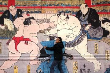 Mur peint du Ryogoku Kokugikan