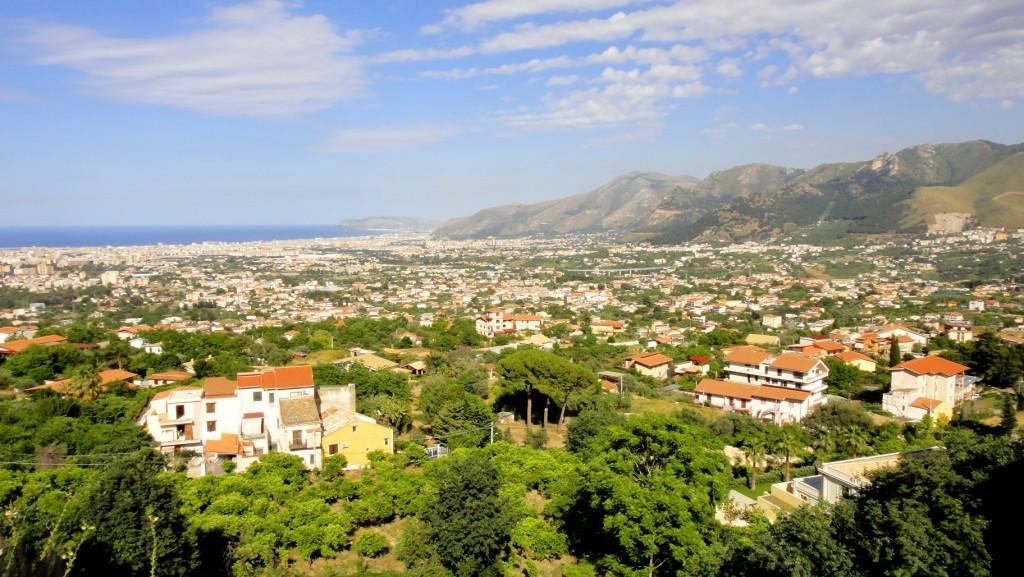 Vue de Palerme depuis la colline de Monreale