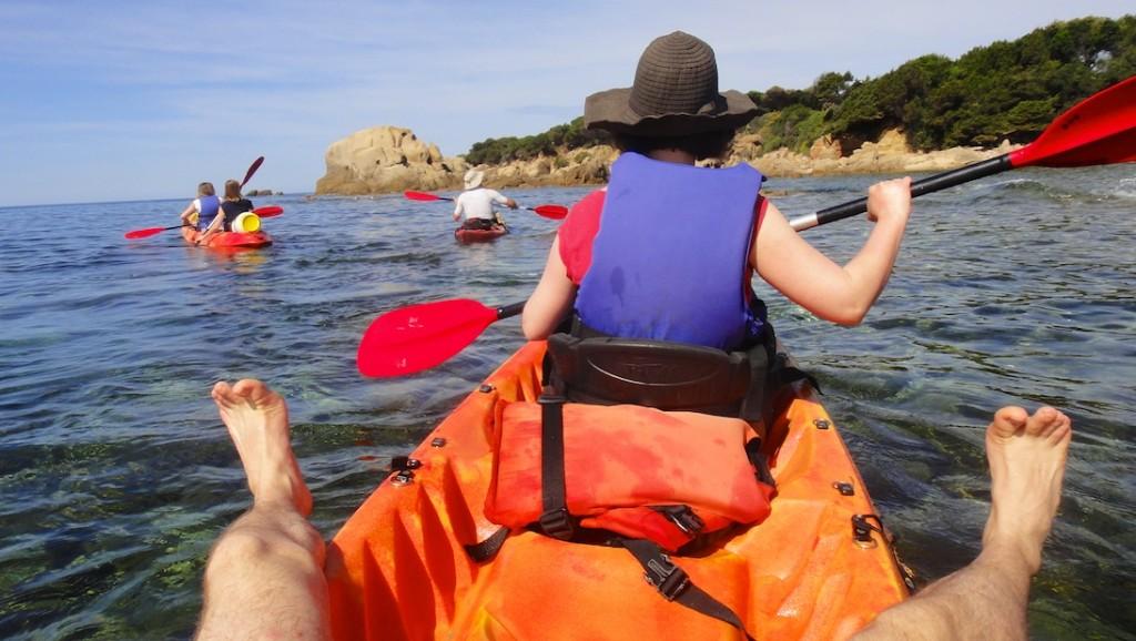 Gare au coups de soleil sur les kayaks sit on top