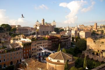 Vue de la terrasse du Palatin au Forum romain