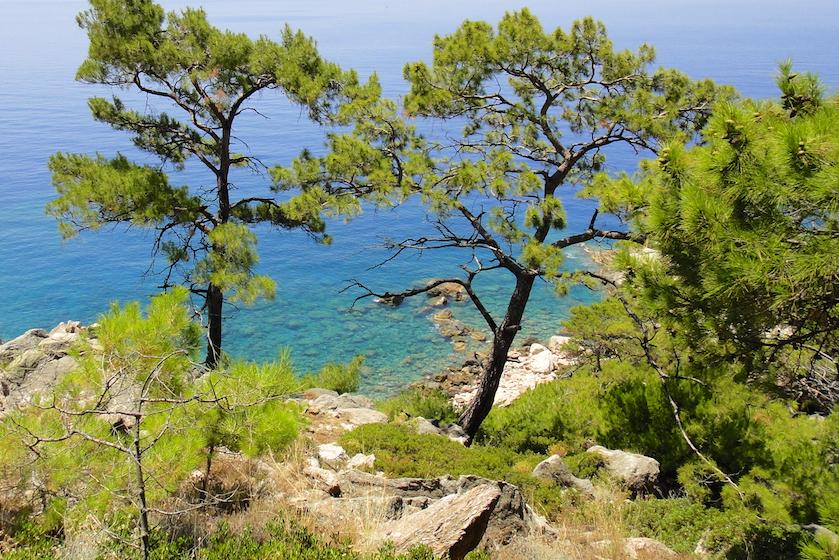 Paysages méditerranéens et idylliques de la voie Lycienne