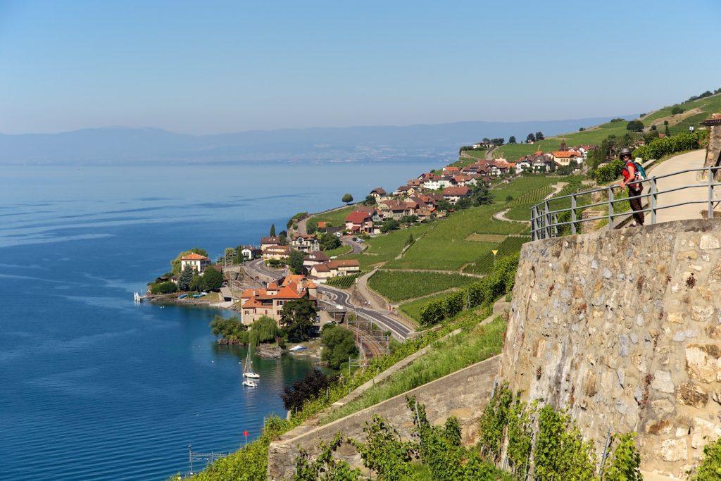Village de Rivaz dans le Lavaux en Suisse