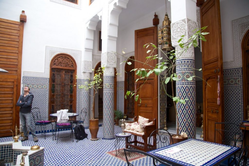 Patio du riad Dar al Safadi