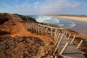 A la plage de Carrapateira sur la côte vicentine du Portugal
